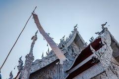 Thailand-Tempel oder großartiges Weiß, Nan Stockfotografie