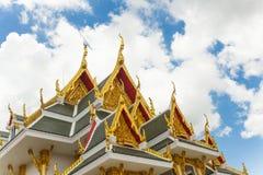Thailand tempels detalj för tak Royaltyfri Bild