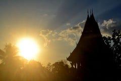 Thailand tempelskugga Arkivfoton
