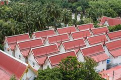 Thailand tempeltak Fotografering för Bildbyråer