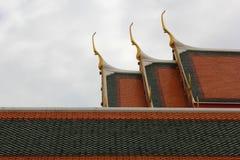 Thailand tempeltak i watpho Arkivbild