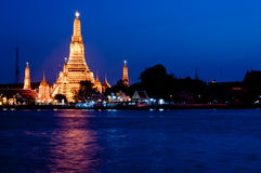 Thailand temple. In the Twilight time Royalty Free Stock Image