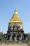 Thailand Temple. Ornate Chedi in a Buddhist temple Thailand Royalty Free Stock Image