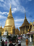 Thailand temple. Temple in Thailand with gold roofs stock photography