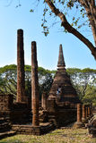 Thailand temple. Beautiful daylight temple in sukhothai Stock Images