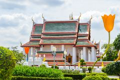Thailand Temple, architecture, Bangkok, garden, daylingt, art, travel, tourism, thai, south east Asia stock image