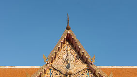 Thailand temple art roof with blue sky Stock Images