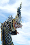 Thailand temple art. Scaly dragon art measurement Thailand Royalty Free Stock Photography