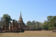 Thailand temple. Beautiful daylight temple in sukhothai Stock Image