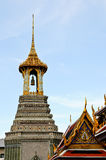 Thailand Temple and Blue Sky Stock Images