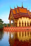 Thailand Temple. Buddhist Pagoda, Wat Plai Laem. Scenic Landmark Stock Photo