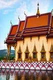 Thailand Temple. Buddhist Pagoda, Wat Plai Laem. Scenic Landmark Stock Photos