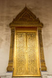 Thailand temple doors, windows, gold, old, beautiful, heritage T Stock Images
