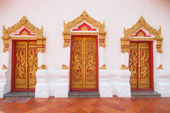 Thailand temple gate stripes Royalty Free Stock Photography