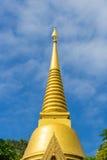 Thailand temple golden pagoda Royalty Free Stock Photos