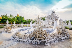 Thailand temple or grand white church Call Wat Rong Khun,at Chia Royalty Free Stock Image