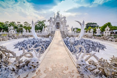 Thailand temple or grand white church Call Wat Rong Khun,at Chia Royalty Free Stock Photography