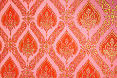 A thailand temple pattern on Wall Royalty Free Stock Image