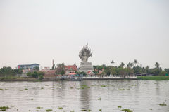 Thailand temple. Beside a Riverside Stock Photo