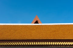 Thailand temple roof with blue sky Royalty Free Stock Photos