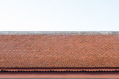 Thailand temple roof with sky. Huahin Royalty Free Stock Photo