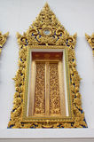 Thailand temple sculpture window decoration. Stock Photography