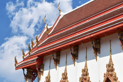Thailand temple sky and white clouds. Thailand temple sky and white clouds Royalty Free Stock Photography