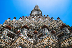 Thailand Temple (Wat Arun). The famous ancient temple of Thailand (Wat Arun)(Temple of the Dawn royalty free stock image