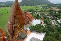 Thailand temple, Wat Tam Sua. Thailand, Western of Thailand, Kanchanaburi Stock Photos