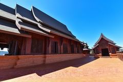 Thailand temple with Wood Royalty Free Stock Photo