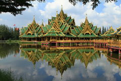 Thailand temples. Temples  in Bangkok of Thailand Royalty Free Stock Photo