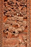 Thailand temples carved doors. Trees, nature, local traditions. Temple Thailand the door Lanna art Royalty Free Stock Photos
