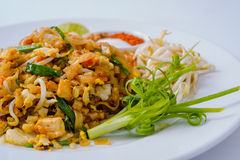 Thailand Thailand fried foods popular with foreigners on the whi Royalty Free Stock Image