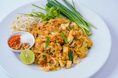 Thailand Thailand fried foods popular with foreigners on the whi Stock Photos