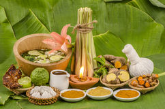 Thailand to herbal skin care and aromatherapy. Royalty Free Stock Photography