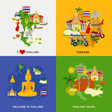 Thailand Tourism Icons Set Royalty Free Stock Photos