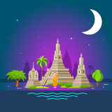 Thailand tourism landmarks, holy place of thailand Stock Photography