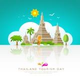 Thailand tourist landmarks background Royalty Free Stock Photography