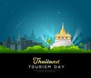 Thailand tourist landmarks worshipers on important buddhist Royalty Free Stock Images