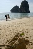 Thailand tourists railay beach Royalty Free Stock Images