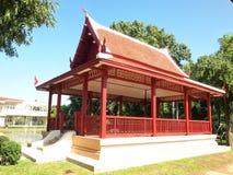 Thailand trähus, trädgårds- Thailand, Thailand paviljong Arkivfoton