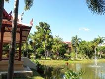 Thailand trähus, trädgårds- Thailand, Thailand paviljong Arkivbild