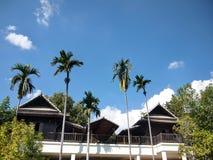 Thailand trähus, trädgårds- Thailand, Thailand paviljong Arkivfoto