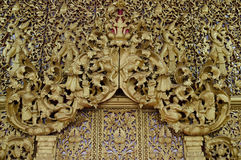 Thailand träskulptur Arkivfoton