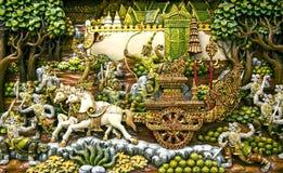 Thailand träskulpturkonst arkivfoton