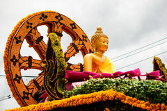 Thailand tradition. Candle Festival Thailand Buddhas in the parade Stock Photography