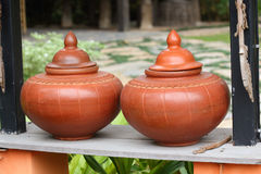 Thailand traditional clay jar Royalty Free Stock Images