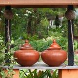 Thailand traditional clay jar Stock Photo