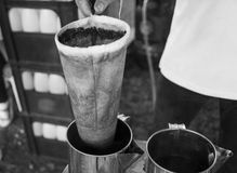 Thailand traditional coffee boiling method Royalty Free Stock Photography