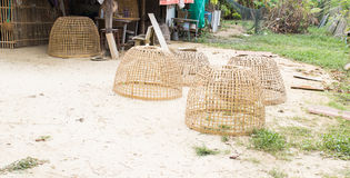 Thailand traditional coop for chicken Stock Image